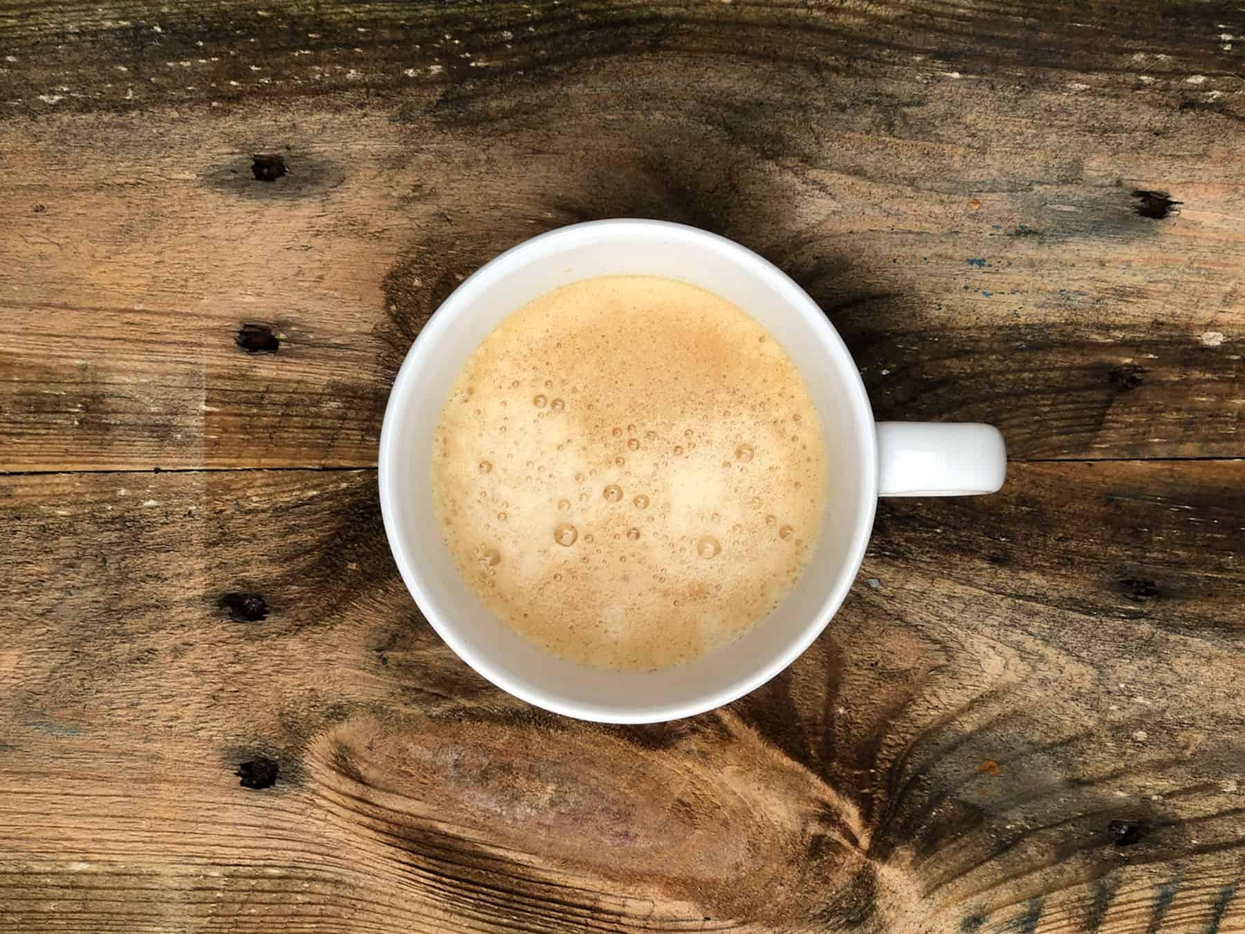 CBD coffee in a cup